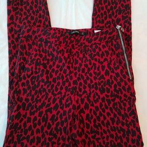 Zara Basic leopard print skinny pants